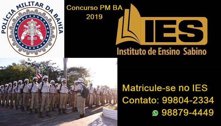 IES Preparatório para Concursos está com matrículas abertas em Teixeira de Freitas; o foco será no Concurso da PMBA 2019
