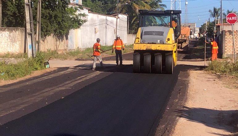 Transformação: Mais uma Rua é asfaltada em Alcobaça