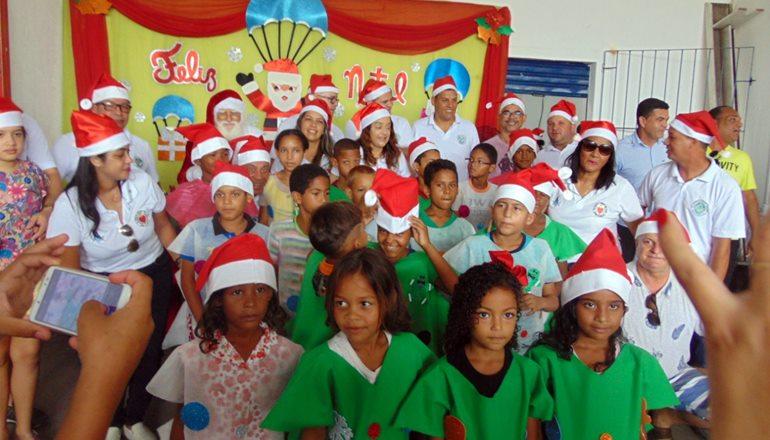 Cras realiza evento natalino para as crianças assistidas