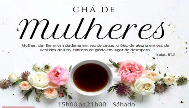 Acontecerá em Teixeira o Chá de Mulheres, um verdadeiro momento de fé e espiritualidade; o psicólogo Fernando Barbosa será o palestrante