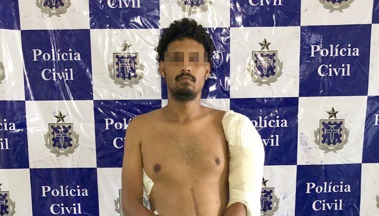 Após receber alta médica, acusado de homicídio é preso pela Polícia Civil de Teixeira de Freitas