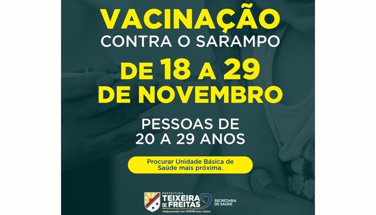 Começou nesta segunda-feira (18) mais uma etapa da campanha de vacinação contra sarampo