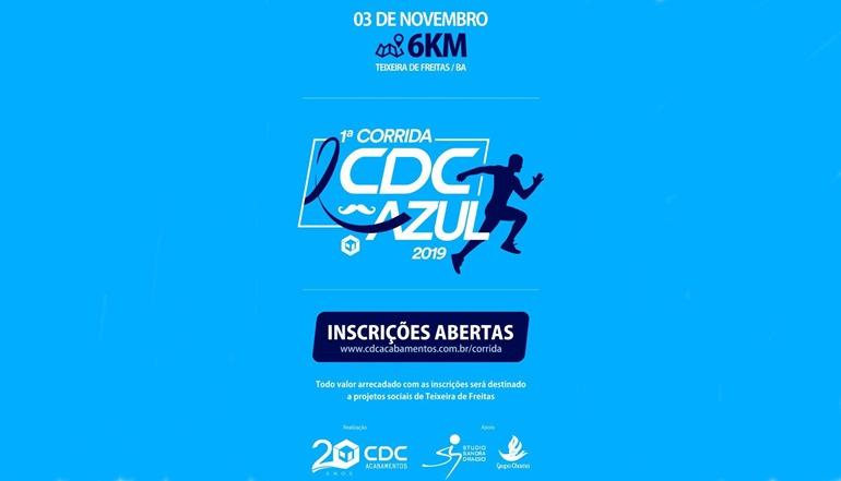 Com o objetivo de comemorar e ajudar, a CDC Acabamentos promoverá a 1ª Corrida Azul em Teixeira de Freitas; confira e faça já a sua inscrição!