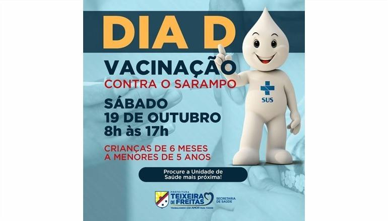 Dia D de Vacinação Contra o Sarampo acontece neste sábado (19)