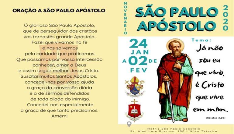 Vem aí o Novenário de São Paulo Apóstolo 2020